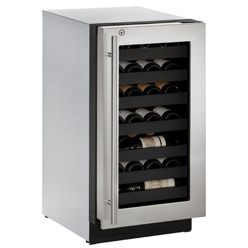 """18"""" Wine Refrigerator With Stainless Frame Finish and Right-hand Hinge Door Swing (115 V/60 Hz Volts /60 Hz Hz)"""