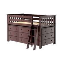 See Details - Twin Loft + Dresser + Dresser Espresso