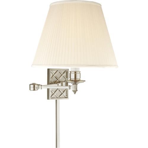 Alexa Hampton Gene 20 inch 100 watt Brushed Nickel Swing-Arm Wall Light