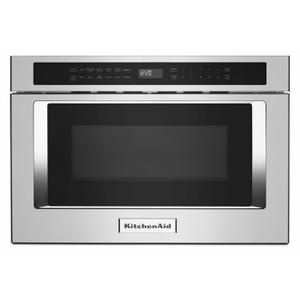 """KitchenAid24"""" Under-Counter Microwave Oven Drawer - Stainless Steel"""