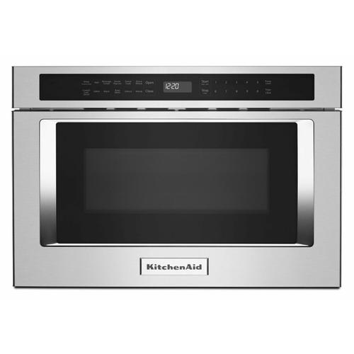 """KitchenAid - 24"""" Under-Counter Microwave Oven Drawer - Stainless Steel"""