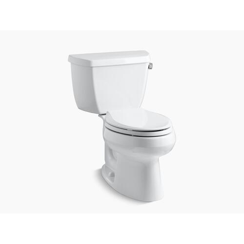 Kohler - Biscuit Two-piece Elongated 1.28 Gpf Toilet With Right-hand Trip Lever