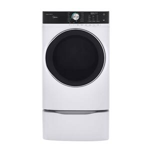 Midea8.0 Cu. Ft. Capacity Front Load Electric Dryer White