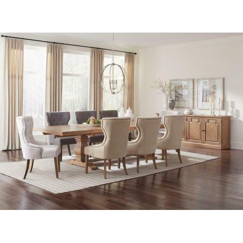 Florence Rectangular Double Pedestal Dining Table