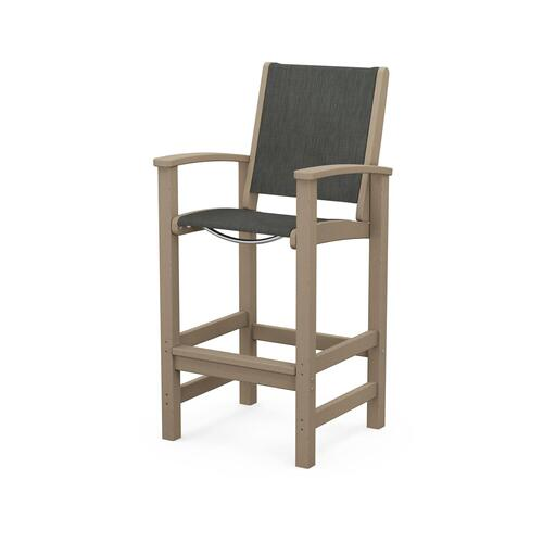 Polywood Furnishings - Coastal Bar Chair in Vintage Sahara / Ember Sling