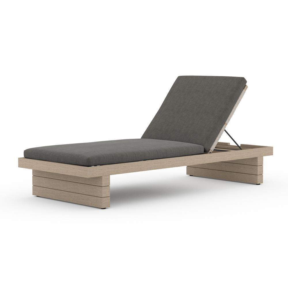Charcoal Cover Leroy Outdoor Chaise - Washed Brown