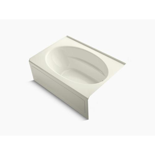 "Biscuit 60"" X 42"" Alcove Bath With Integral Apron and Right-hand Drain"