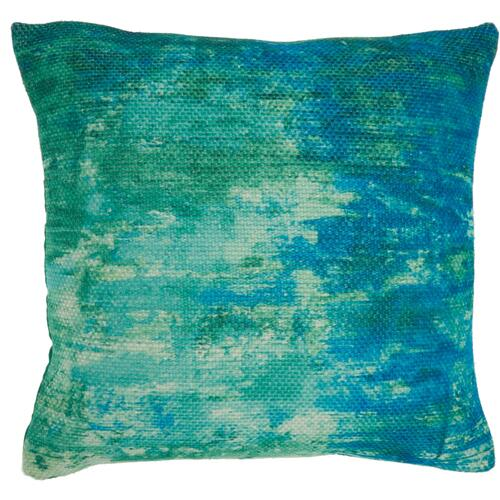 "Outdoor Pillows As130 Blue/green 20"" X 20"" Throw Pillow"