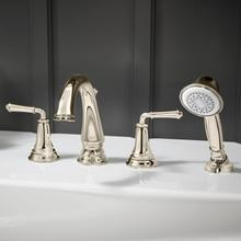 Delancey Roman Tub Faucet with Personal Shower  American Standard - Polished Nickel