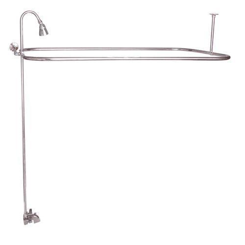 """Rectangular Shower Unit - Polished Nickel / 54"""" x 24"""""""