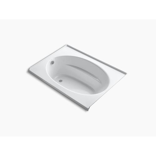 "White 60"" X 42"" Alcove Bath With Integral Flange and Left-hand Drain"