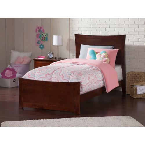 Metro Twin Bed with Matching Foot Board in Walnut