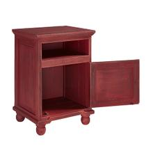 See Details - Nightstand - Rustic Red Finish