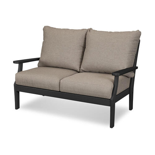 Black & Sancy Shale Braxton Deep Seating Settee