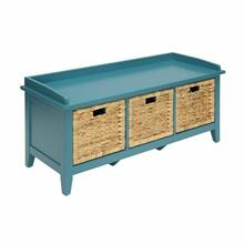 ACME Flavius Bench w/Storage - 96761 - Teal