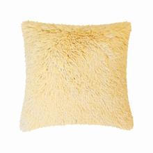 Fun Fur Long Hair Cushion - Yellow
