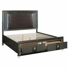 ACME Sawyer Eastern King Bed - 27967EK - PU & Metallic Gray
