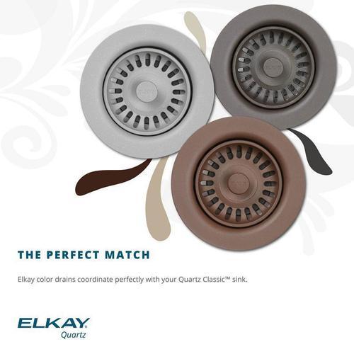 "Elkay - Elkay Polymer 3-1/2"" Disposer Flange with Removable Basket Strainer and Rubber Stopper Sand"