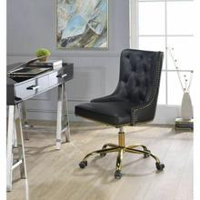ACME Purlie Office Chair - 92518 - Black PU & Gold