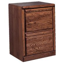Forest Designs Bullnose Two Drawer File Cabinet: 22W x 30H x 21D