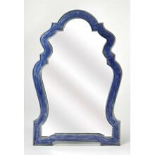 Having a mirror in any room is a great way to let the light bounce around, opening up the room, and allowing you to check you look -mirrors are essential accents. Take this one for example: Taking on an eye-catching arched silhouette, its frame is crafted from Iron and features a blue finished frame, outline in silver. Try it over your entryway console table, or bring it into the bathroom for a quick powder room pick-me-up.