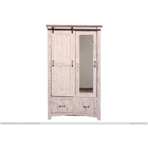 International Furniture Direct - 2 Drawer, 1 Sliding door, 1 Door Armoire