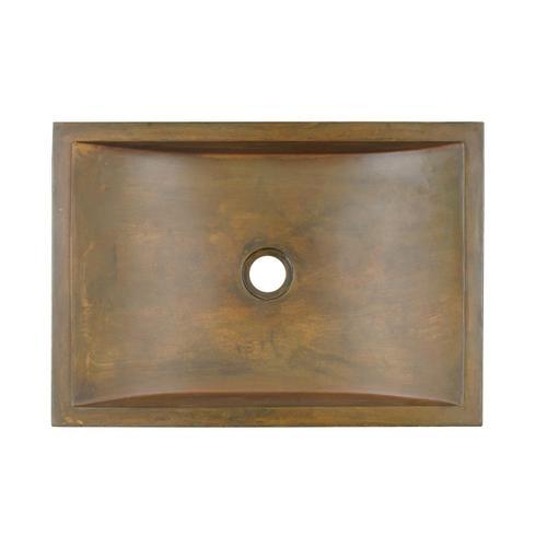 Eldon Rectangular Vessel - Copper Green