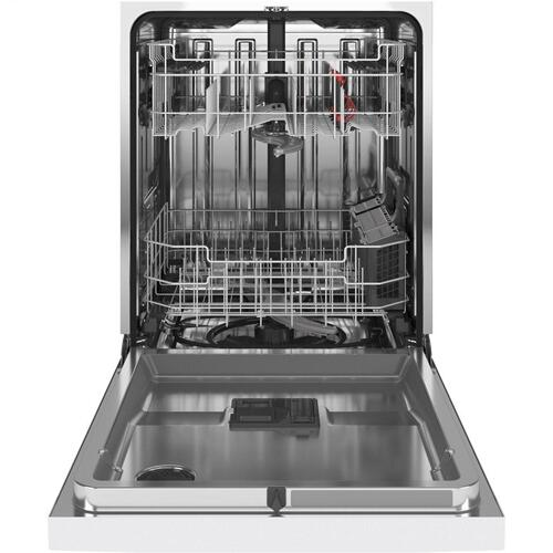 GE Appliances - GE® Front Control with Stainless Steel Interior Dishwasher with Sanitize Cycle & Dry Boost