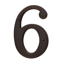 Venetian Bronze House Number - 6