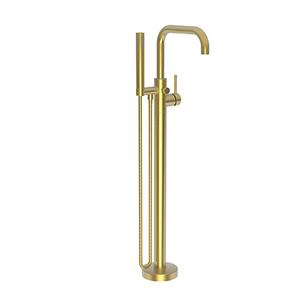 Satin Gold - PVD Exposed Tub and Hand Shower Set - Free Standing
