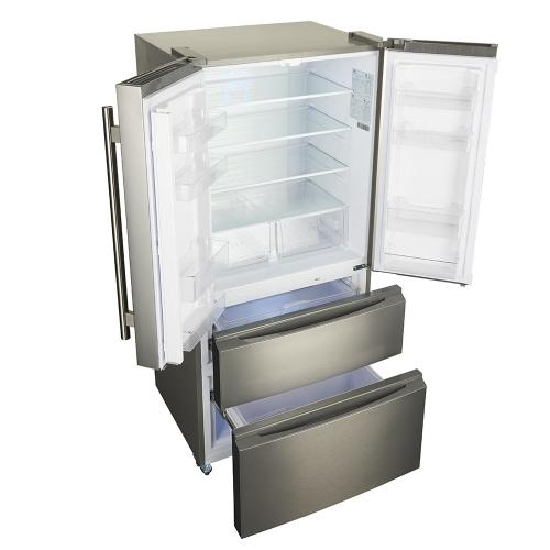 Bovino - 33inch counter depth 19 CU.FT French Door No Frost Refrigerator Stainless Steel
