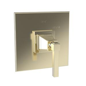 French Gold - PVD Balanced Pressure Shower Trim Plate with Handle. Less showerhead, arm and flange.