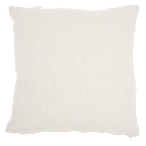 """Life Styles Sh018 White 18"""" X 18"""" Throw Pillow"""