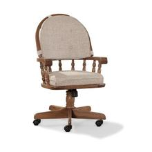 See Details - Classic Oak Chestnut Curved Top Game Chair