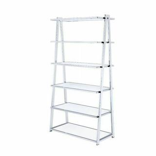 ACME Coleen Bookshelf - 92455 - White High Gloss & Chrome