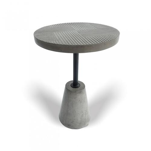 VIG Furniture - Modrest Dakan - Modern Grey Concrete End Table