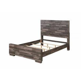 ACME Juniper Eastern King Bed - 22157EK - Transitional, Rustic - Wood (Solid Pine), Veneer (Melamine), MDF - Dark Cherry