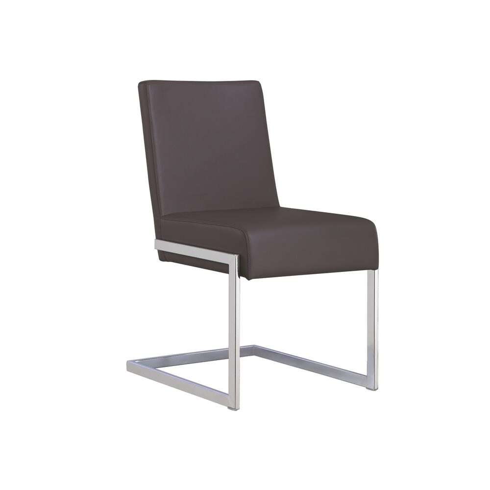 The Fontana Dark Gray Eco-leather Dining Chairs