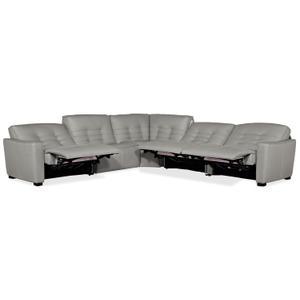 Hooker Furniture - Reaux 5-Piece Power Recline Sectional w/3 Power Recliners