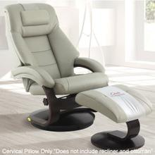 View Product - Mandal Cervical Pillow in Putty Top Grain Leather