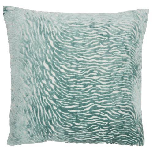 """Luminescence Et139 Celadon 20"""" X 20"""" Throw Pillow"""