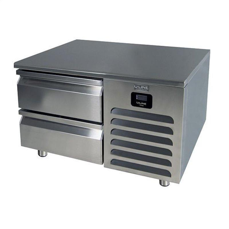 """36"""" Freezer Base With Stainless Solid Finish (115v/60 Hz Volts /60 Hz Hz)"""