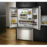 KitchenAid 25 Cu. Ft. 36-Width Standard Depth French Door Refrigerator with Interior Dispense - Stainless Steel