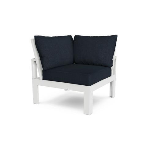 White & Marine Indigo Modular Corner Chair