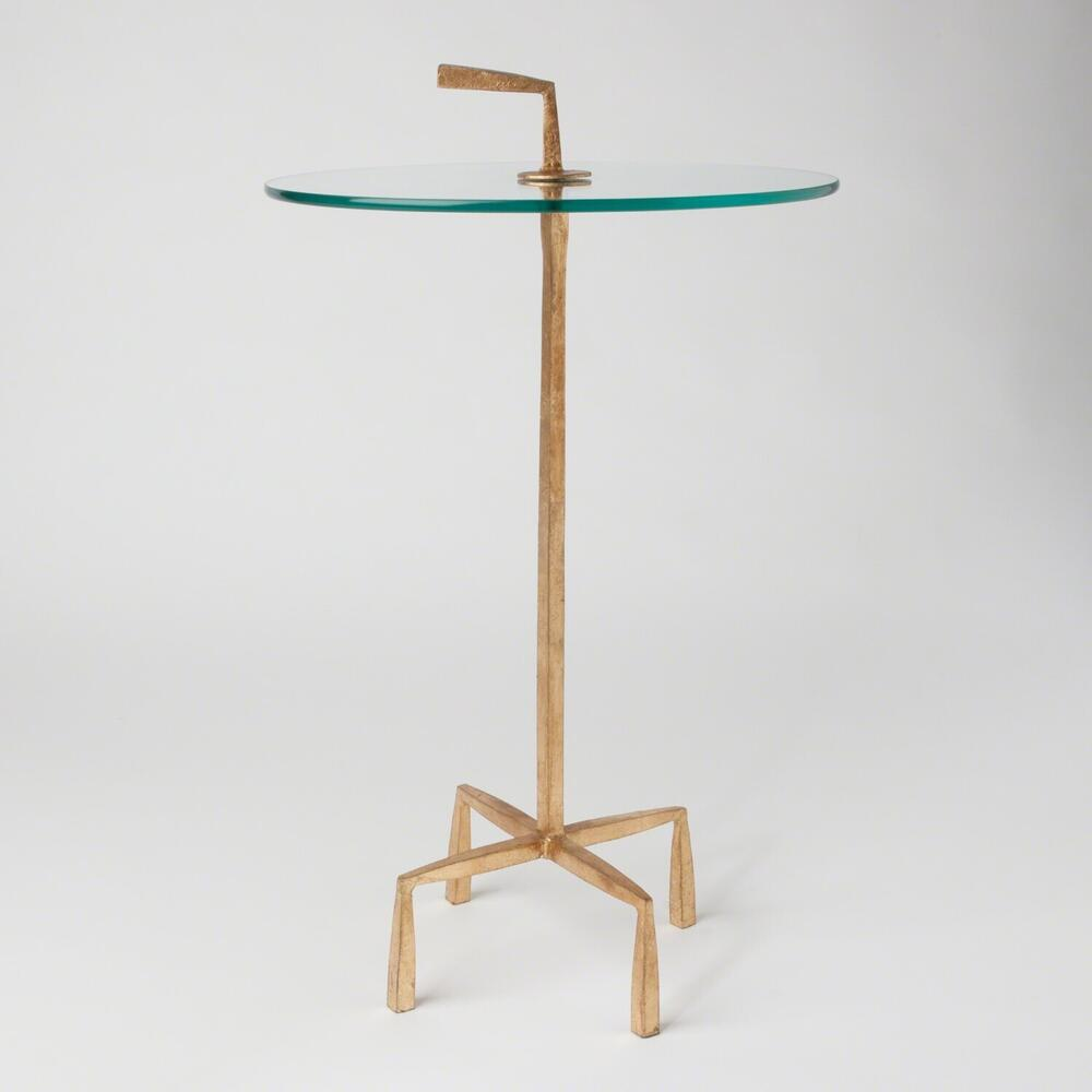 See Details - Quad Pod Accent Table-Gold Leaf