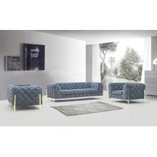 Product Image - Divani Casa Sheila - Modern Dark Grey Fabric Sofa Set