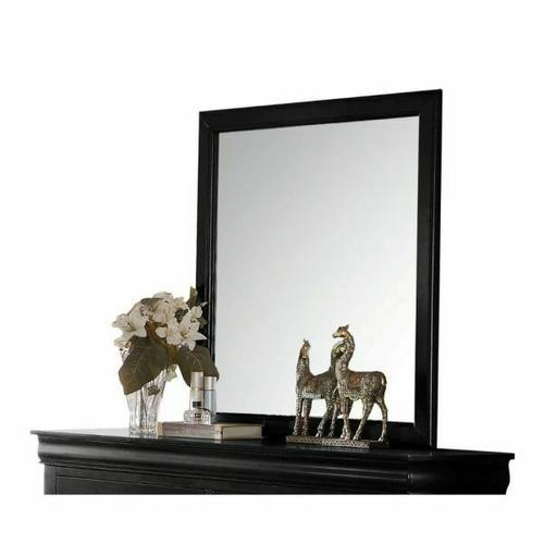 ACME Louis Philippe Mirror - 23734 - Black