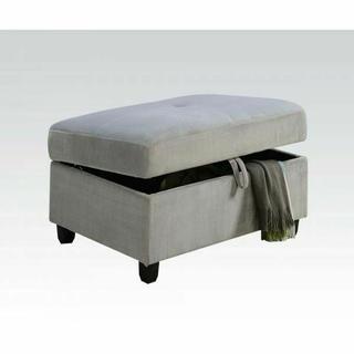 ACME Belville Ottoman w/Storage - 52713 - Gray Velvet