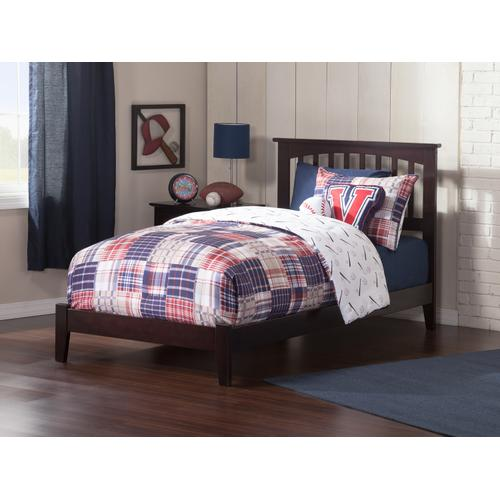 Mission Twin Bed in Espresso