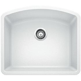 Diamond Single Bowl - White